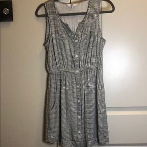 Never Worn. Black and White Striped Dress